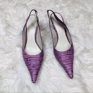 Nine West vintage purple pointed toe kitten heel